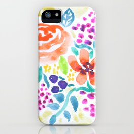 Flowers Watercolors iPhone Case