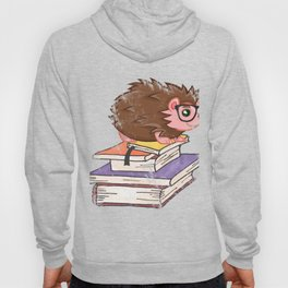 Hedgehog Book Nerd Literary Reading Hedgehogs Book Lover Hoody