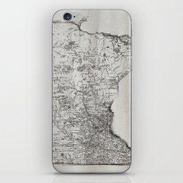 Old Map of Minnesota iPhone Skin