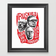 Ruskies-Russian composers Framed Art Print