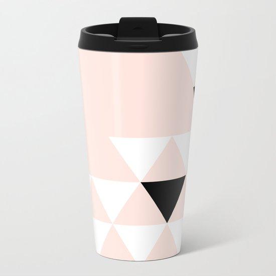 Minimalist Triangles Metal Travel Mug
