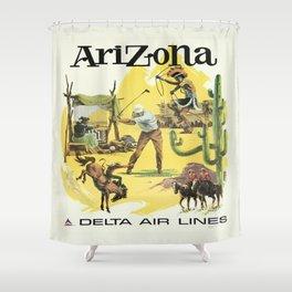 Vintage poster - Arizona Shower Curtain