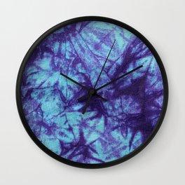 Tie Dye- Blue and Purple Wall Clock