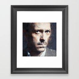 Hugh Laurie painting Framed Art Print