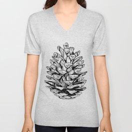 Pine cone illustration Unisex V-Neck