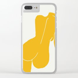 Nude in yellow Clear iPhone Case