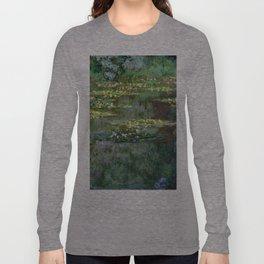 1904-Claude Monet-Le Bassin des Nympheas-87 x 91 Long Sleeve T-shirt