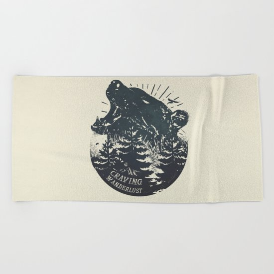 Craving wanderlust II Beach Towel