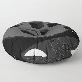 Pandemic - Black Floor Pillow