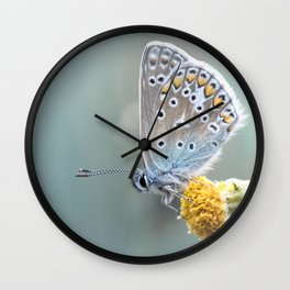 Composition in Yellow and Blue....  Wall Clock