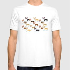 Color me Corgi White Mens Fitted Tee SMALL