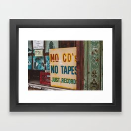 Just Records Framed Art Print