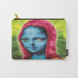 Blue Mona Carry-All Pouch
