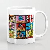 keith haring Mugs featuring Haring - étoiles W. by Krikoui