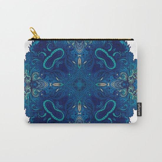 Blue Cobalt Indian Mandala Carry-All Pouch