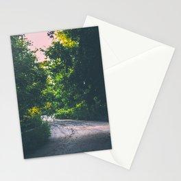 Lit up path Stationery Cards