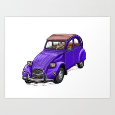 Purple 2CV Art Print
