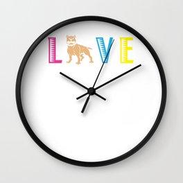 Pit Bull Love Dog Wall Clock