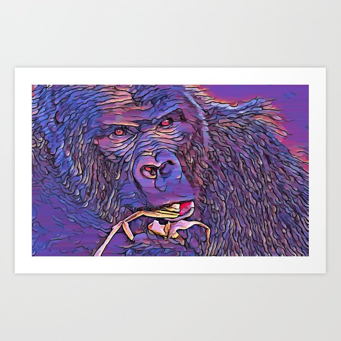 Feeding Gorilla Art Print