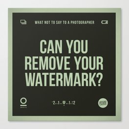 Remove your watermark Canvas Print