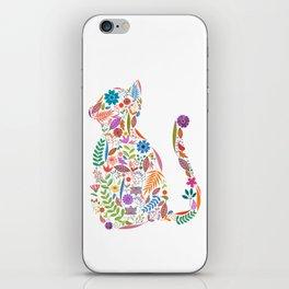 Fancy And Fine Flowered Cat Garden Design iPhone Skin