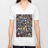 majora V-neck T-shirts featuring The Legend of Zelda by Sandra Ink