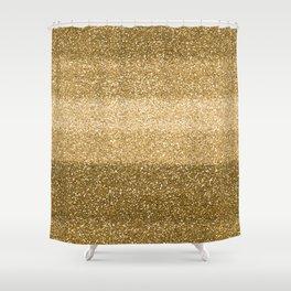 Glitter Glittery Copper Bronze Gold Shower Curtain