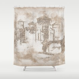 Ancient Medieval Castle Shower Curtain