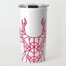 Reindeer Christmas Gift Sledge Funny Travel Mug