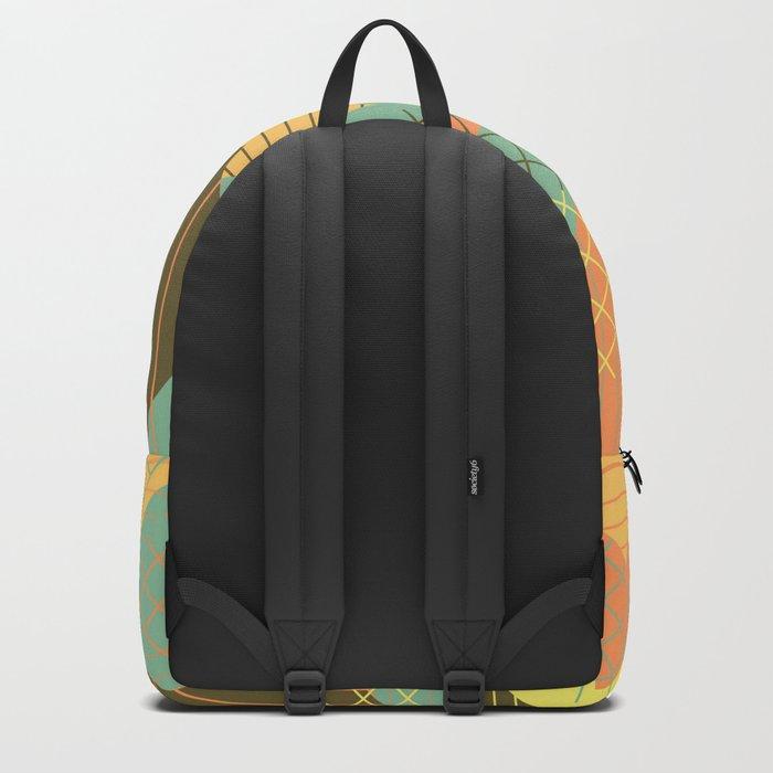 Squares Grids Stripes I (Modern Retro Color Palette) Backpack