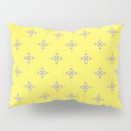 Ornamental Pattern with Lemon and Grey Yellow Colourway Pillow Sham