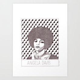 Angela Davis Portrait Art Print