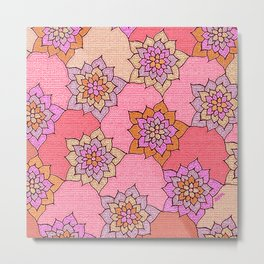 zakiaz hot pink lotus Metal Print