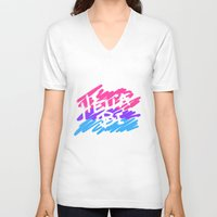 bisexual V-neck T-shirts featuring bisexual by thetalkinghair