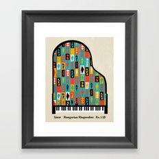 Liszt - Hungarian Rhapsodies Framed Art Print