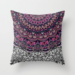 Purple color mandala Sophisticated ornament Throw Pillow
