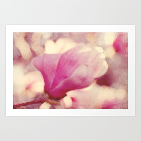 magnolia abstract Art Print