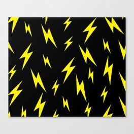 Lightning bolt pattern Canvas Print