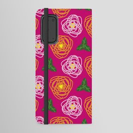 Bright pink floral Android Wallet Case