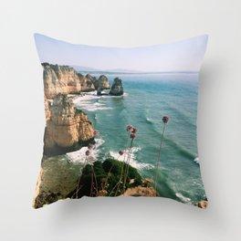 Algarve coast Throw Pillow