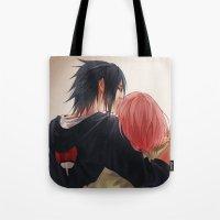 sasuke Tote Bags featuring Chu by ilaBarattolo