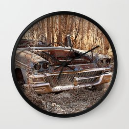 Abandoned Vintage Car  Wall Clock