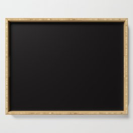Solid Night Black Html Color Code #0C090A Serving Tray