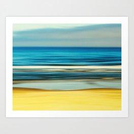sea and sand Art Print