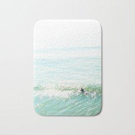 Lone Surfer in the Californian Sun Bath Mat