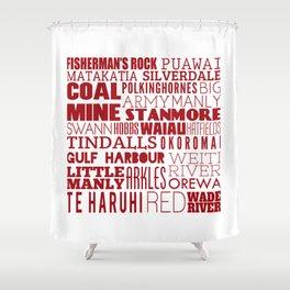 Hibiscus Coast - Version Eight Shower Curtain