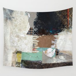 Another Vice Mixed Media Abstract Collage Art Wall Tapestry