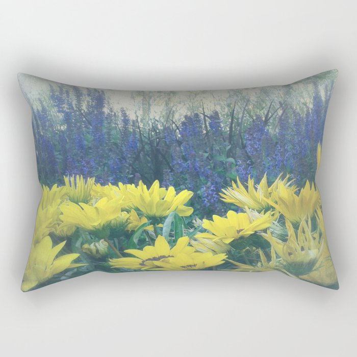 Small Summer Garden Rectangular Pillow