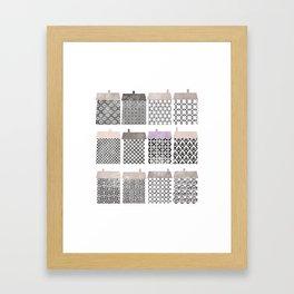 Casitas esgrafiadas. Houses. Casas Framed Art Print