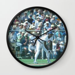 Joe Carter : First Base / Outfield : Cubs : Spring Training 1984 : Vintage Baseball Photograph Wall Clock